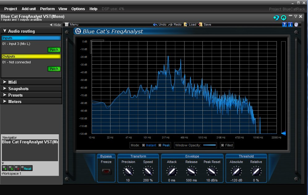 Bluecat Spectrum Analysis Plugin