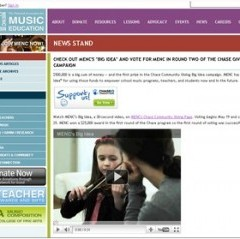 Support Music -Bloggers Toolkit For MENC's Chase Community Giving Campaign