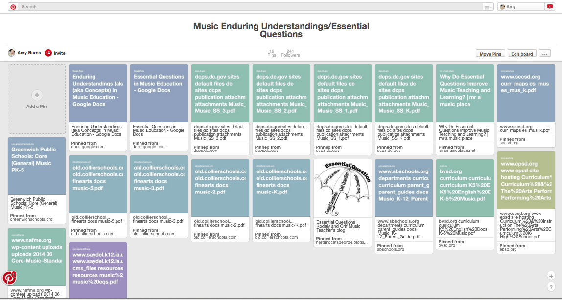 Curriculum mapping forming essential questions for for Music curriculum map template